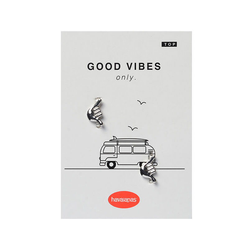 Good Vibes Claw Pin Top 2, SILVER, hi-res image number null