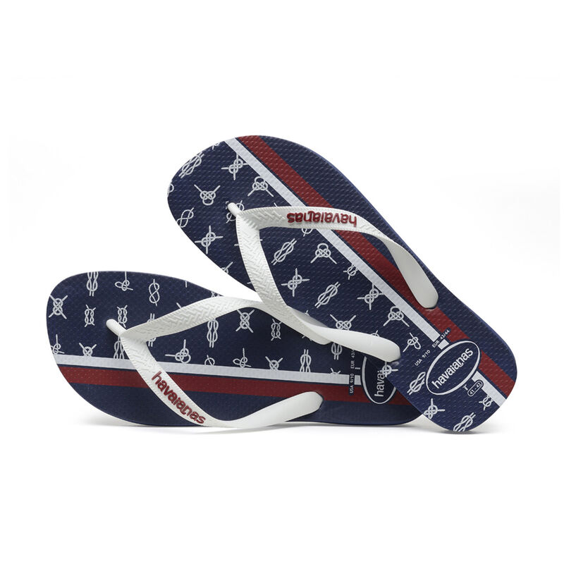 Top Nautical Flip Flops, NAVY BLUE/WHITE/APACHE RED, hi-res image number null