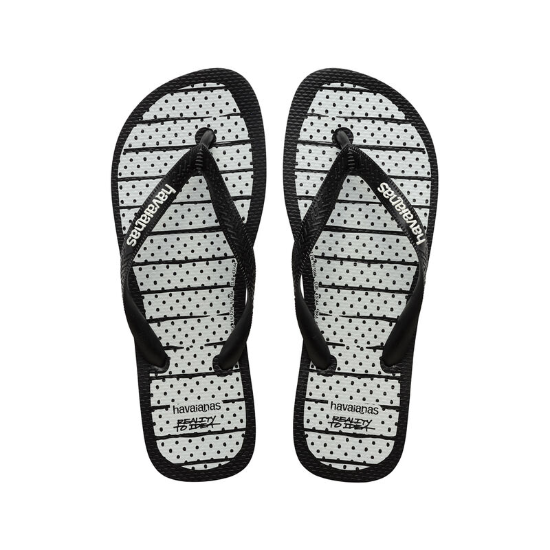 Top Reality To Idea Flip Flops, BLACK/WHITE, hi-res image number null