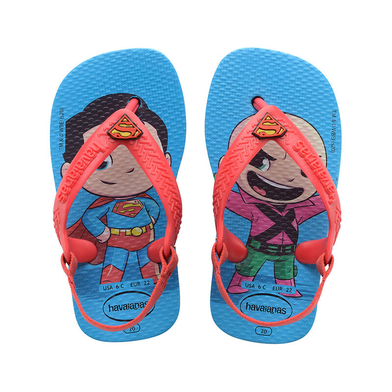 Baby Heroes Flip Flops, TURQUOISE/RED, hi-res image number null